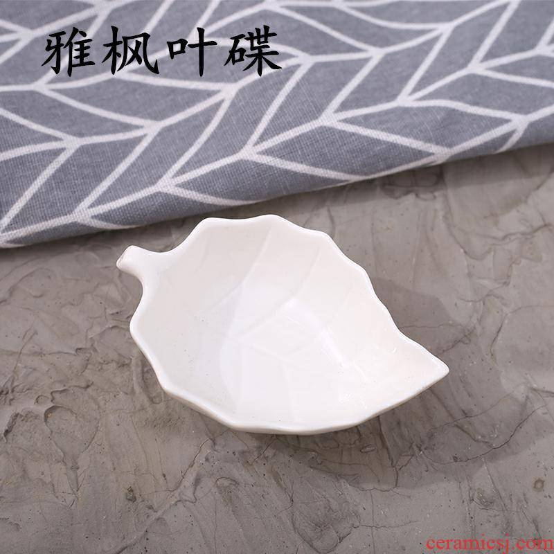 Four white household ceramics small plate individuality creative irregular fruit dish of soy sauce dip the dish flavor dishes