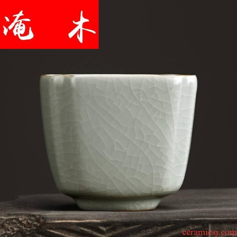 Submerged wood FengZi household your up single CPU kung fu tea set sample tea cup individual cup single master cup ceramic tea cups