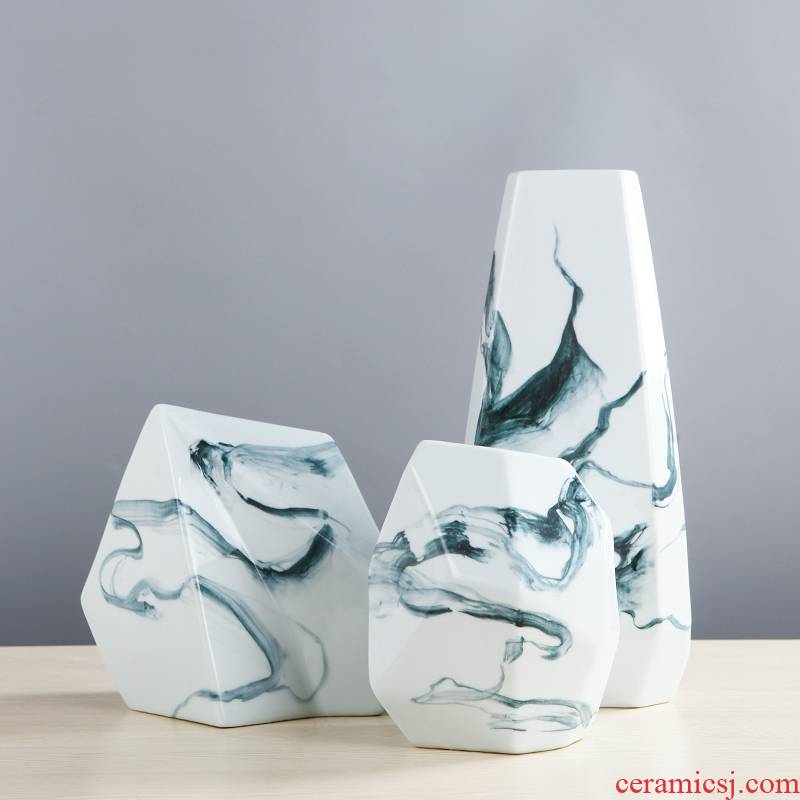 Creative household modern abstract ceramic vase desktop TV ark, place adorn article sitting room of Chinese style art decoration