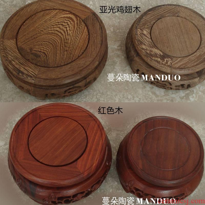 Vase of red wood vases wenge top grade base supporting high - grade base of high - grade porcelain Vase base