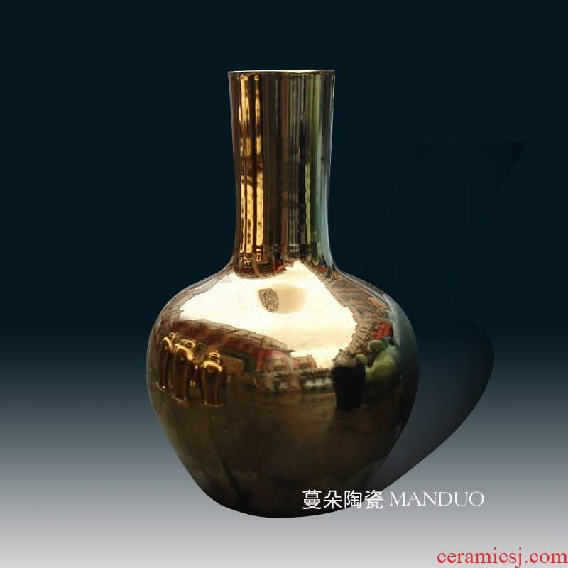 Golden Golden fashion celestial porcelain vases celestial gold plated porcelain vase