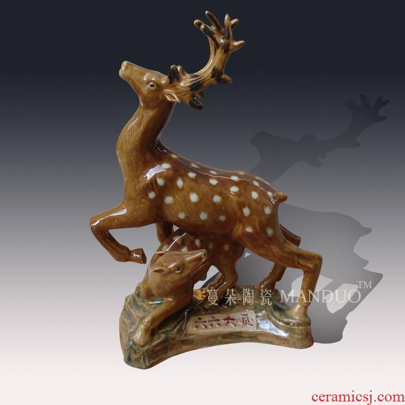 Sika deer stereo deer porcelain its its furnishing articles furnishing articles realistic porcelain solid deer deer furnishing articles