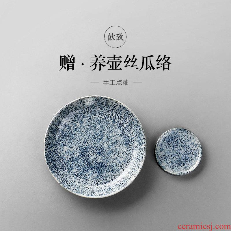 Ultimately responds to jingdezhen archaize pot bearing work plate tea tray ceramic supporting tea pot dry mercifully machine fittings of Japanese tea taking
