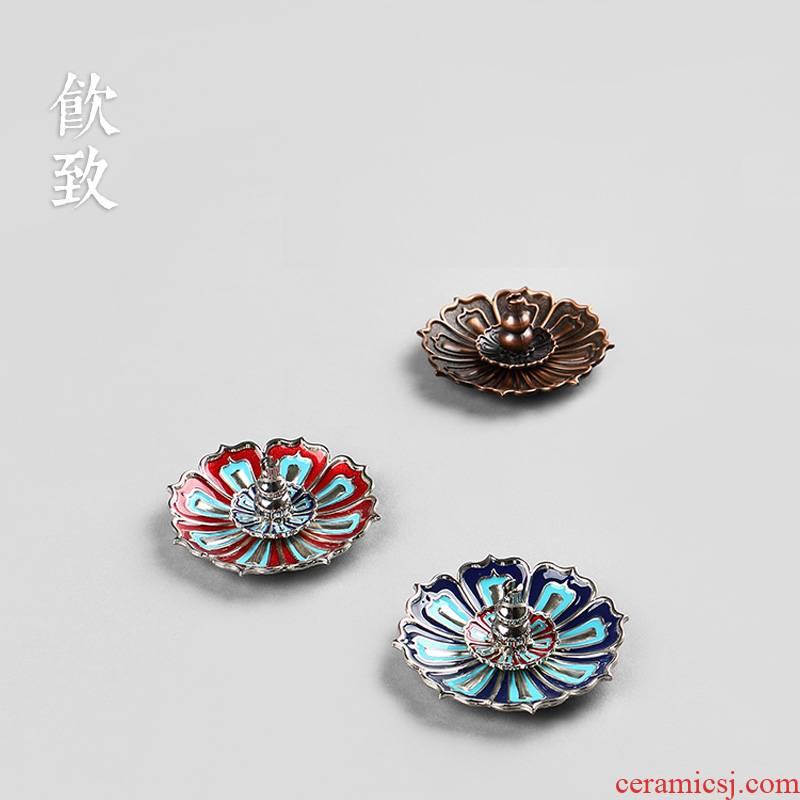 Ultimately responds to cloisonne vertical incense insert joss stick cone incense buner base mini household zen tea accessories head