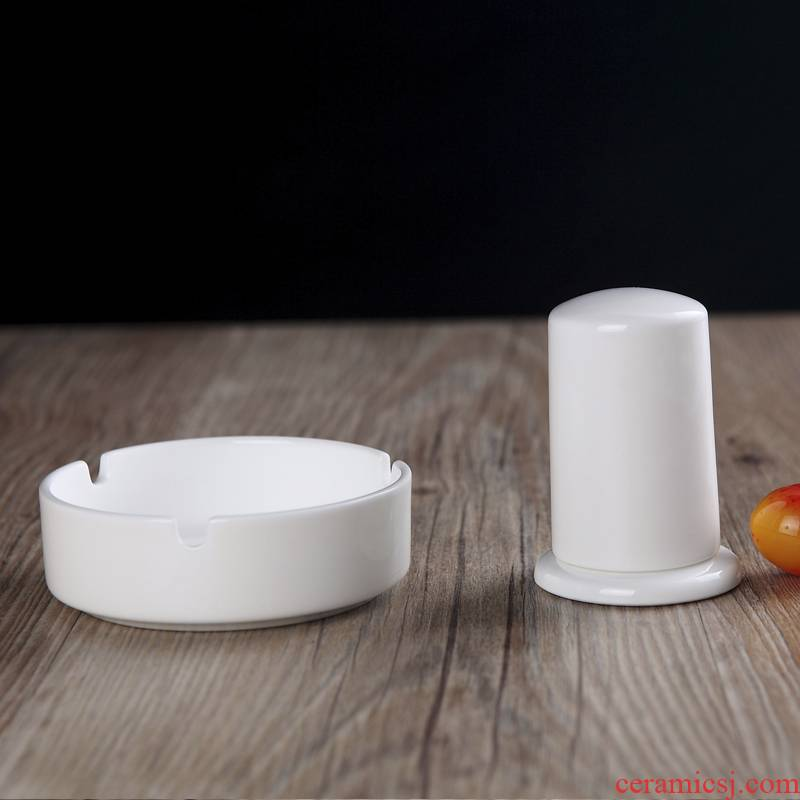 Toothpicks extinguishers ashtray jingdezhen ceramics pure white ipads China hotel tableware fittings custom can add words