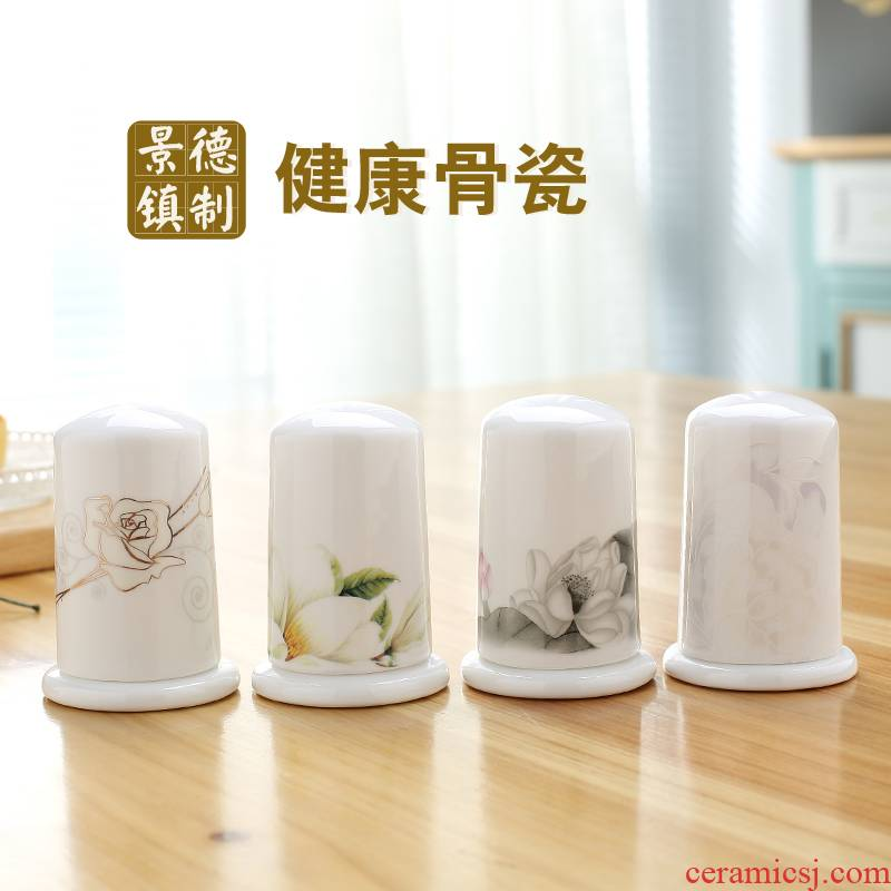 Jingdezhen porcelain ipads meal toothpick box toothpicks extinguishers hotel household portable tableware accessories can add words