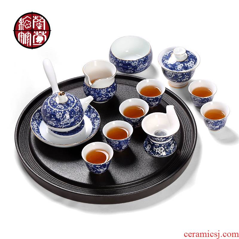 Kung fu tea set of blue and white porcelain ceramic modern creative tea teapot teacup combinations of a complete set of the home office
