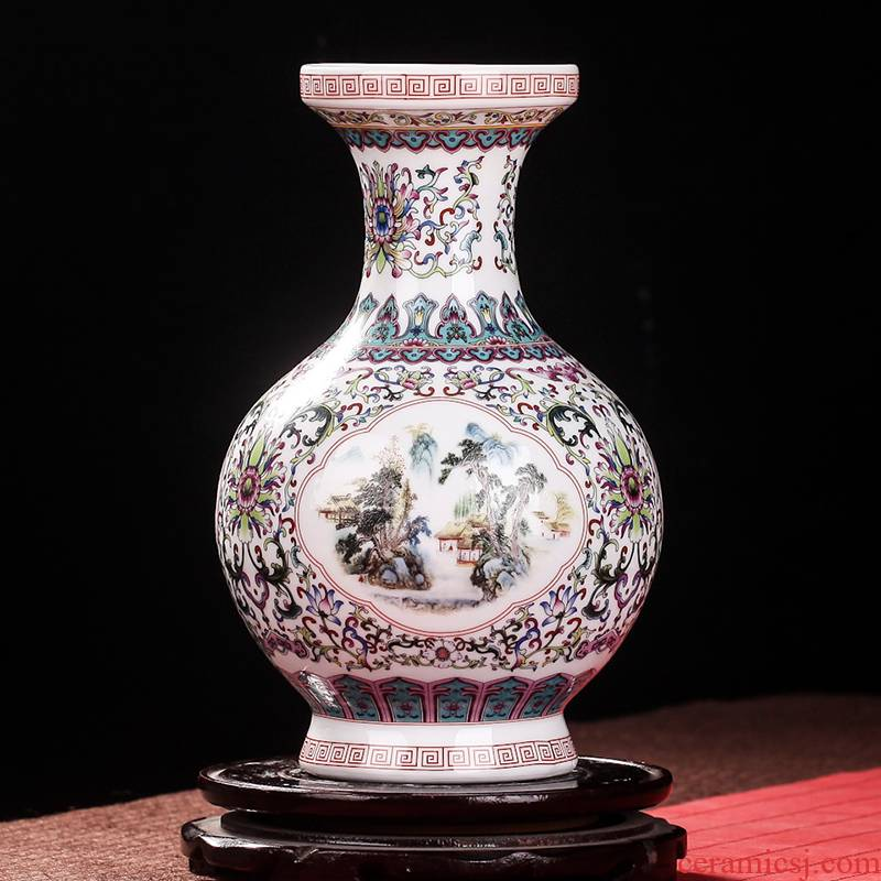 Jingdezhen ceramic vase household wine ark, adornment handicraft furnishing articles sitting room TV cabinet office vases, pottery and porcelain