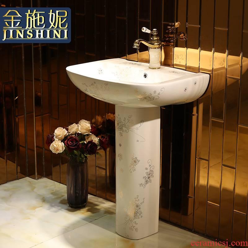 Gold cellnique European - style one - piece toilet ceramic basin stage basin basin wide LZP24 shaped flowers