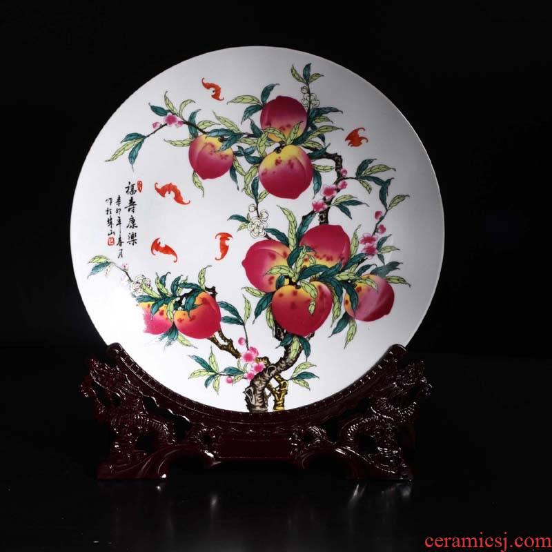 35 cm xiantao jingdezhen porcelain furnishing articles xiantao bats celebration gift porcelain furnishing articles furnishing articles