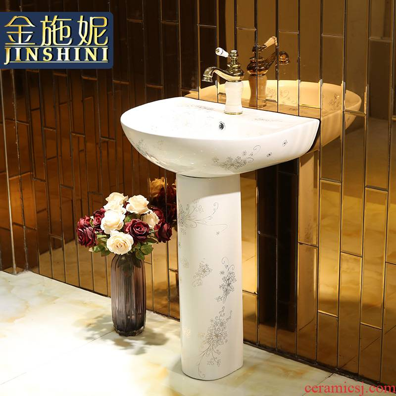 Gold cellnique European - style one - piece toilet ceramic basin stage basin sinks LZP14 more flowers