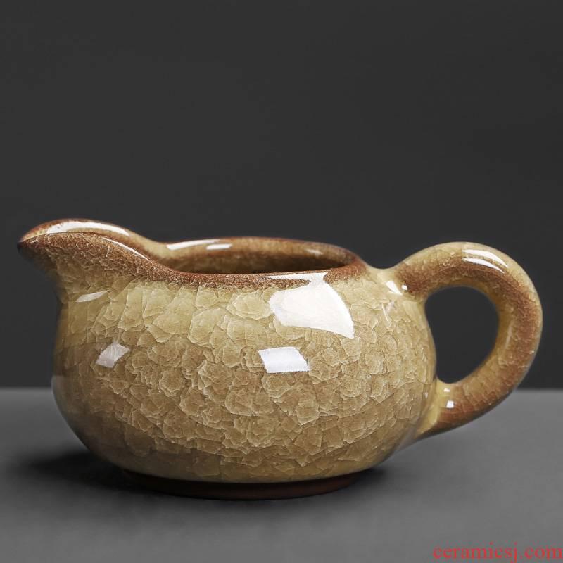 Ice crack glaze ceramic fair trumpet archaize creative tea tea ware sea home tea set points of tea and tea cups
