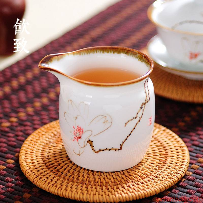 Ultimately responds to jingdezhen hand - made ceramic fair keller kung fu) Japanese portion pours tea tea accessories and a cup of tea