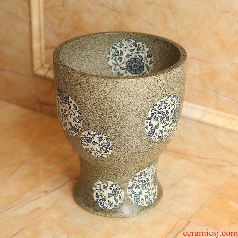 Artists in the balcony ceramic mop mop pool pool basin bathroom small family mop mop pool small 31 cm