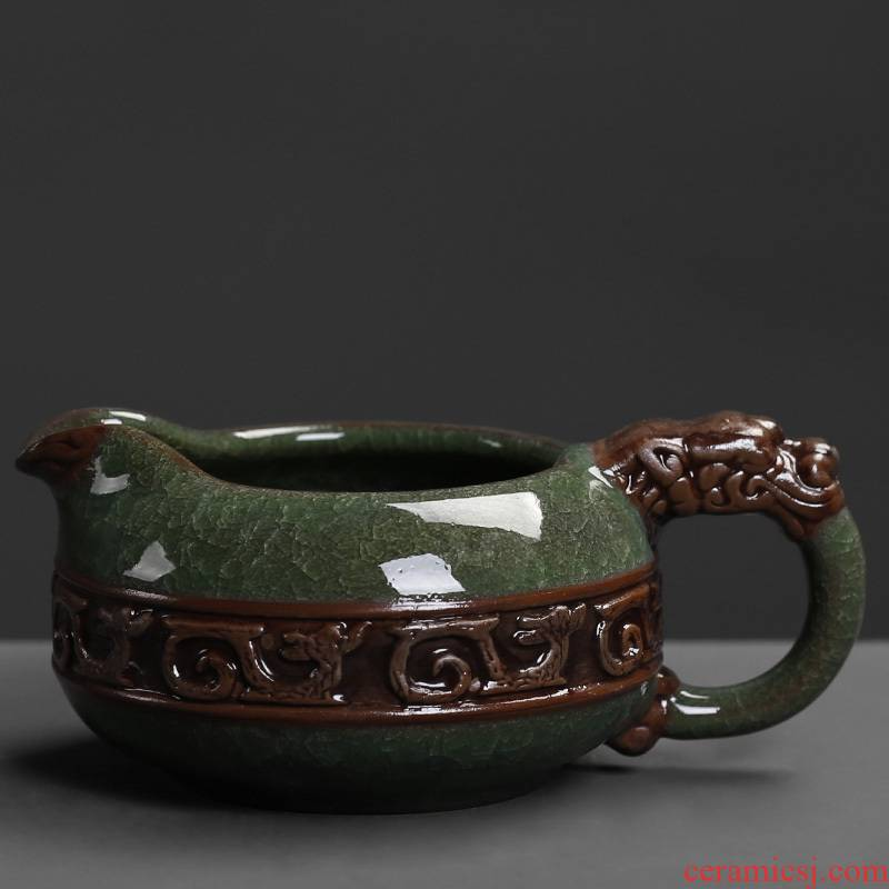 Elder brother up with crack kung fu tea set ceramic fair keller large filtering points tea ware to hold to hot tea tea accessories household sea