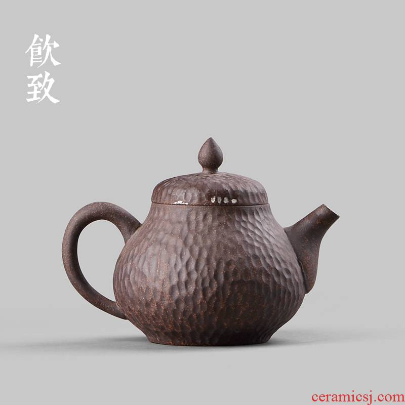 Ultimately responds to the old rock, all hand filtering household contracted coarse pottery teapot tea ceramic small kung fu tea pot