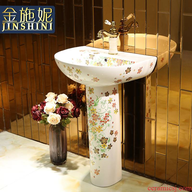 Gold cellnique European - style one - piece toilet ceramic basin stage basin sinks more colorful butterfly LZP10