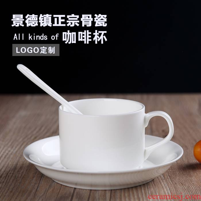 Quality assurance of jingdezhen ceramic coffee cup of white coffee set ipads porcelain coffee cup Europe type small spoon