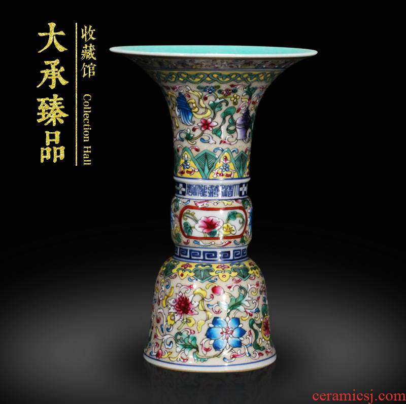 Jingdezhen ceramics hand - made enamel enamel sweet grain and Chinese style household adornment small antique shelf house furnishing articles