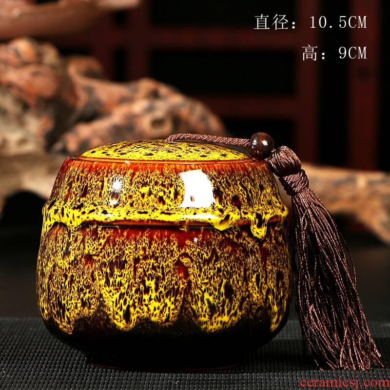 Ya xin company sealed ceramic tea caddy fixings box # travel warehouse storage tank pu 'er tea pot receives special tea set