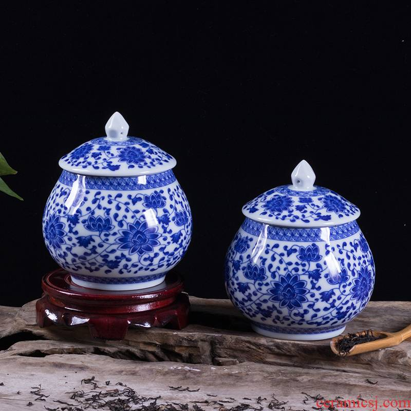 Blue and white porcelain tea pot gift boxes of household seal puer tea pot large - sized ceramic tea pot gifts gifts