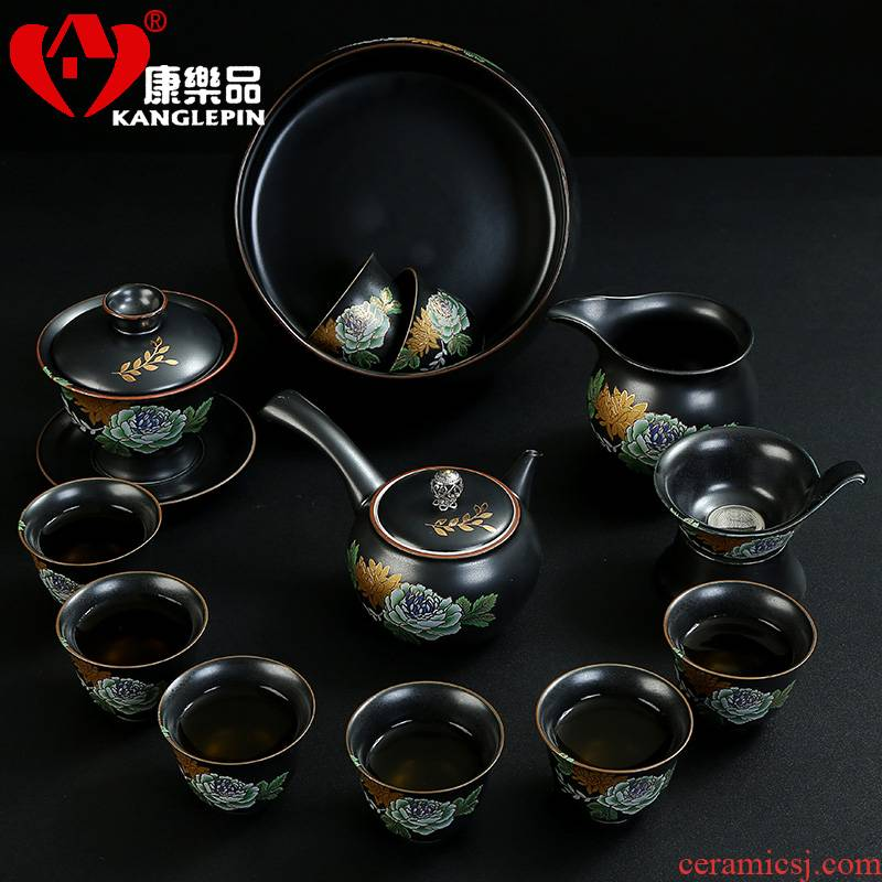 Recreation products elegant tea set ceramic simple kung fu tea tureen teapot teacup combinations of a complete set of office