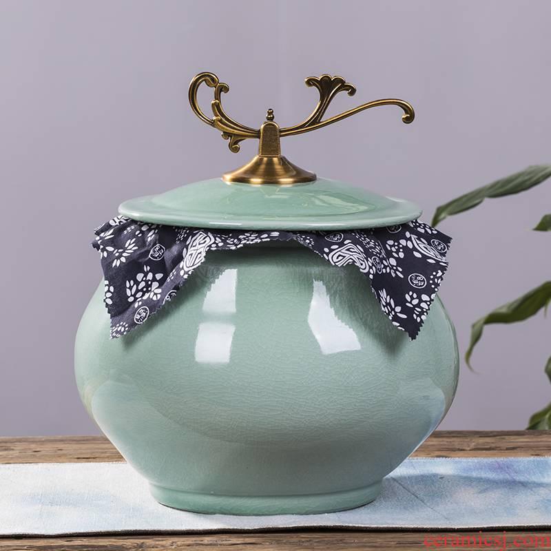Jingdezhen ceramic tea pot large tea urn home seal POTS ceramic tea pot decorative furnishing articles