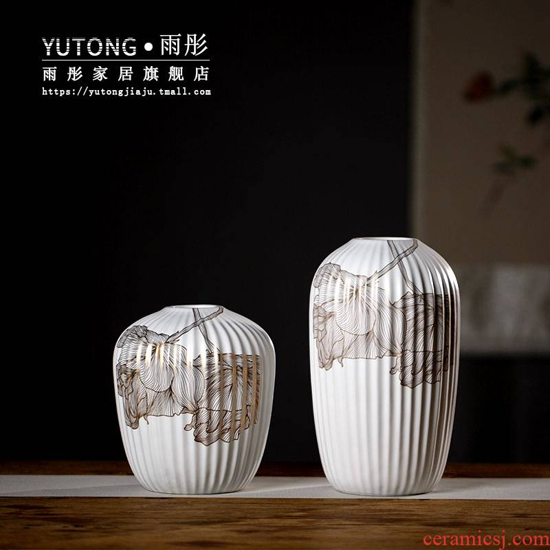 See light much creative mesa contracted and I sitting room ceramic vase northern wind furnishing articles flowers aqua dried flowers