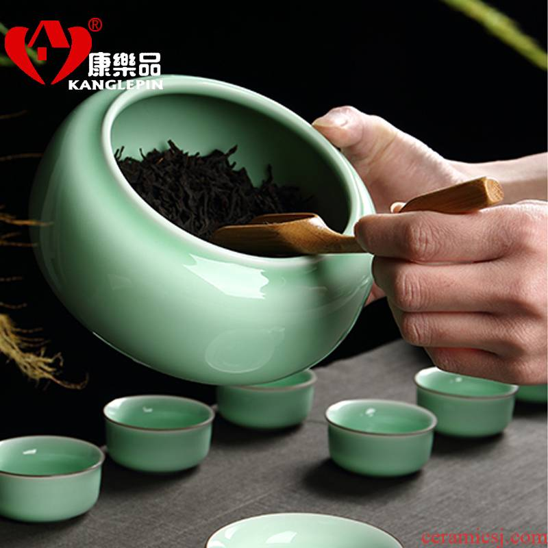 Recreational product packing seal pot, tea boxes in the storage tank celadon ceramic tea pot celadon tea accessories