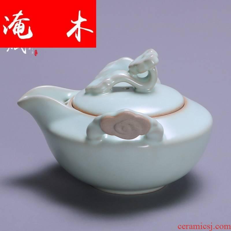Submerged wood your up teapot can keep open single pot ceramic teapot hand grasp pot home of filter tea kungfu tea set