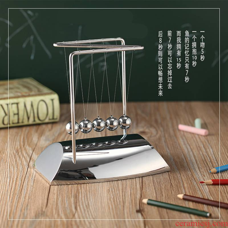 7 ball Newton put wooden base of high - grade creative business gifts, office desktop ornaments furnishing articles