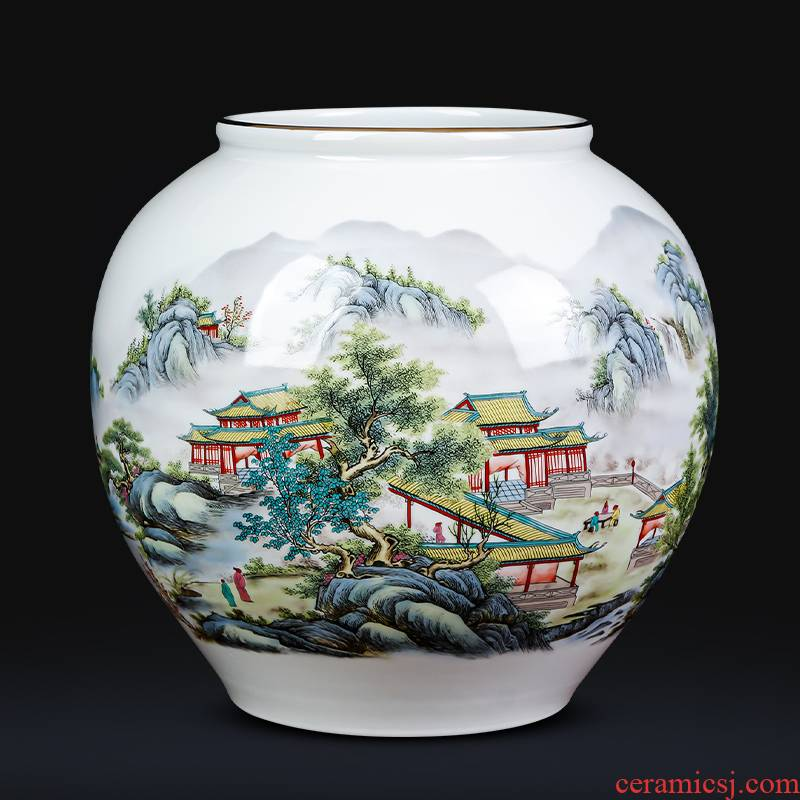 Jingdezhen ceramics creative vase expressions using jars Chinese style living room decoration furnishing articles TV ark, decorative arts and crafts