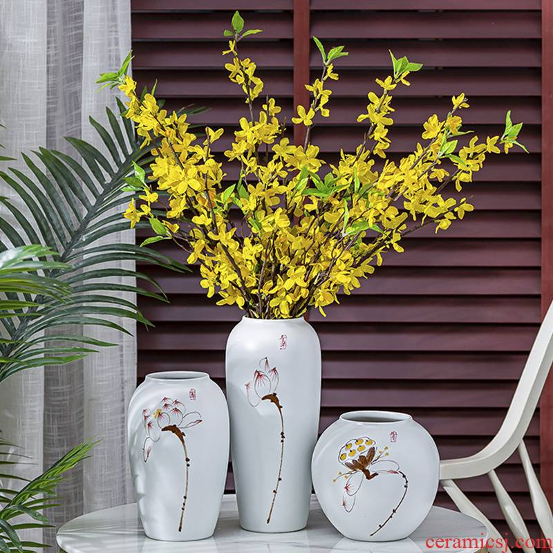 Ceramic vase creative floral outraged TV cabinet furnishing articles home decoration of modern Chinese style living room table flower arrangement