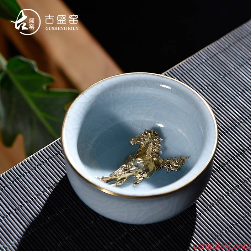 Ancient fill your up up gold your up single cup of tea service master cup your porcelain porcelain cup open creative sample tea cup of tea