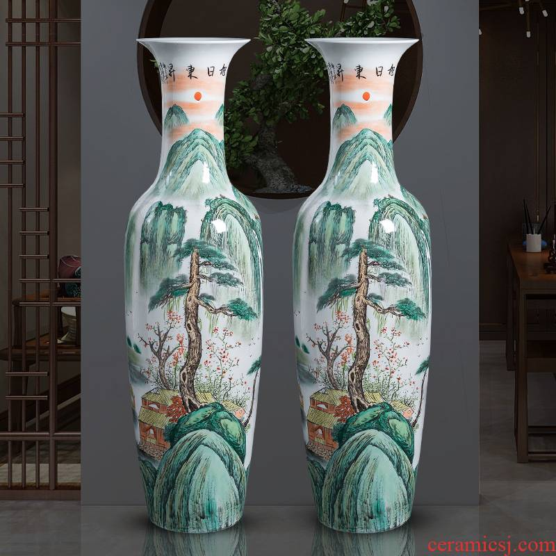 Jingdezhen ceramics hand - made extra large size vase home sitting room adornment the pre - opening hotel floor furnishing articles