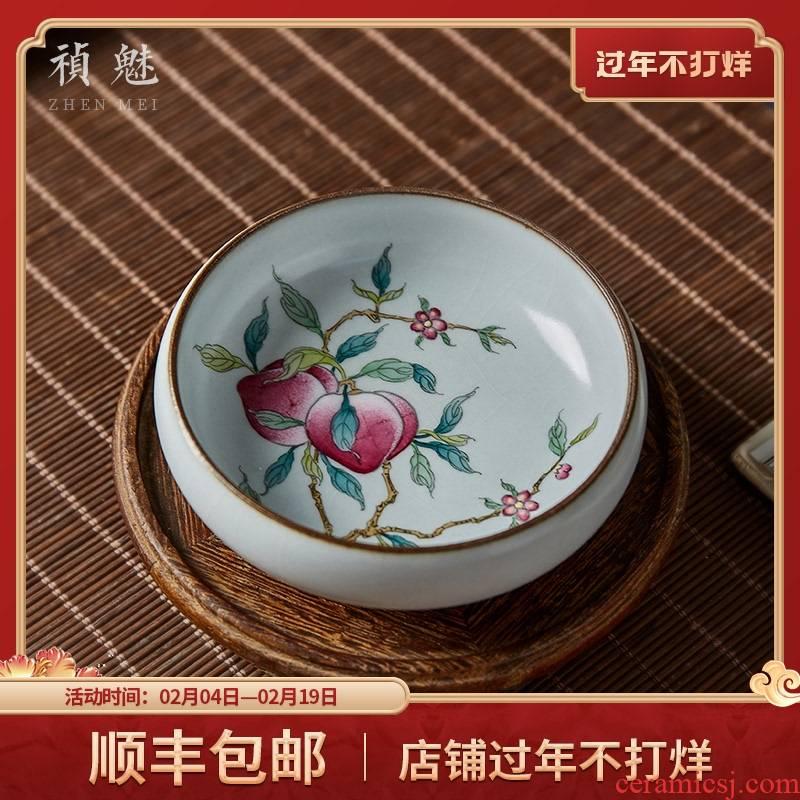 Shot incarnate the ru up made peach master cup single CPU jingdezhen ceramic kung fu tea set personal tea pu - erh tea cup