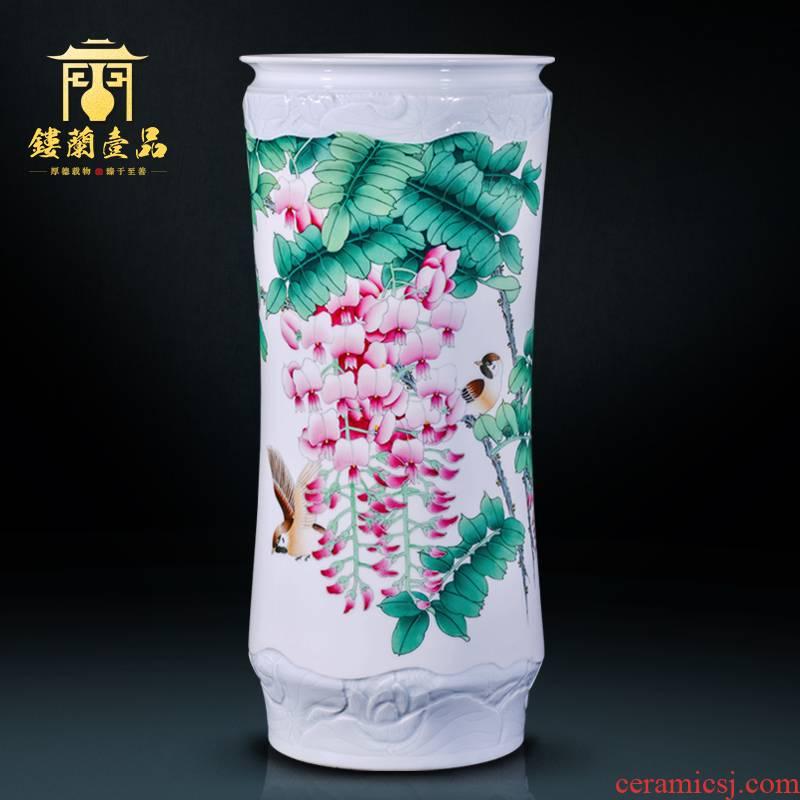 The Master of jingdezhen ceramic all hand - made sabingga sukdun dergici jimbi large Chinese style household decoration collection vases, furnishing articles