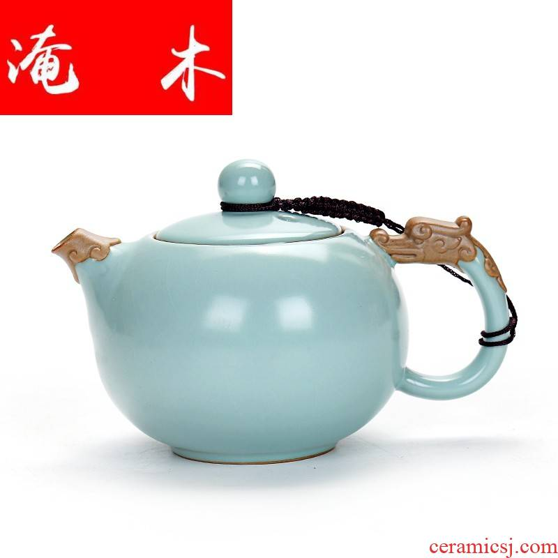 Submerged wood slice your up to leave but a kung fu tea set ceramic teapot hand grasp pot of large - sized xi shi tea pot home office