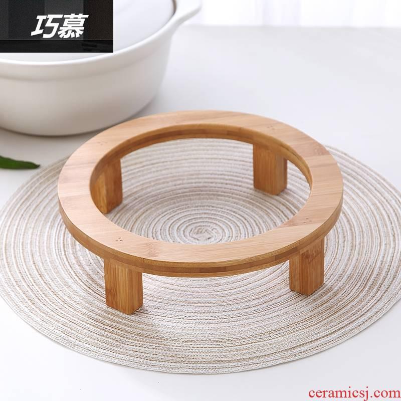 Qiao mu nanzhu bamboo prevent hot pot gestell insulating mat kitchen utensils table MATS table mat