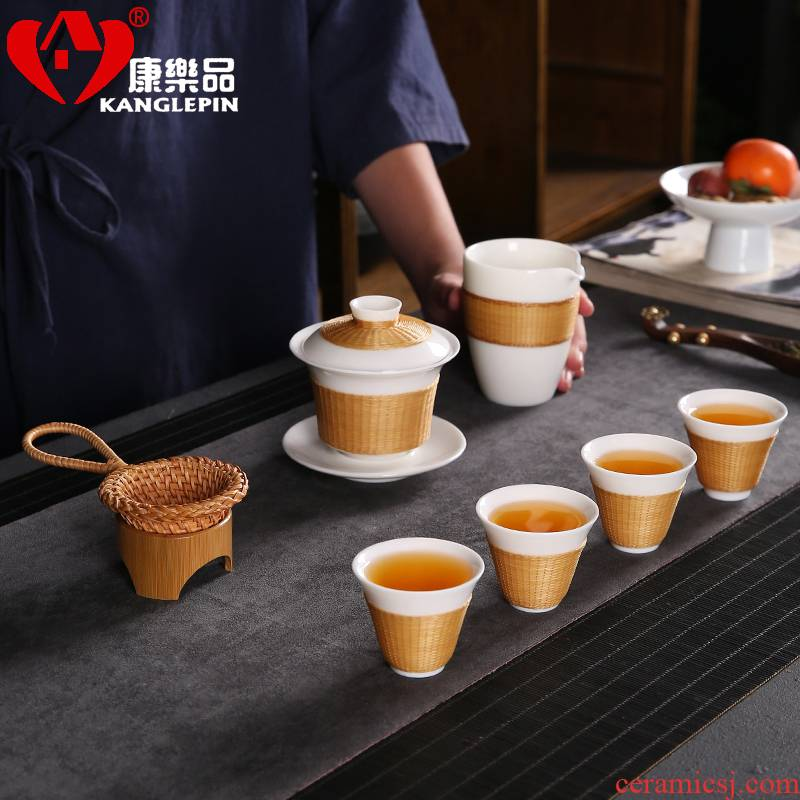 Recreational products bamboo states porcelain tea set porcelain body bamboo has tureen fair keller kung fu tea tea tea cups