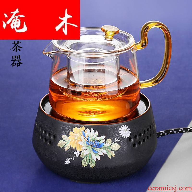Submerged wood high - temperature home filtration pot boiling tea ware ceramic electric TaoLu tea stove glass kettle kung fu