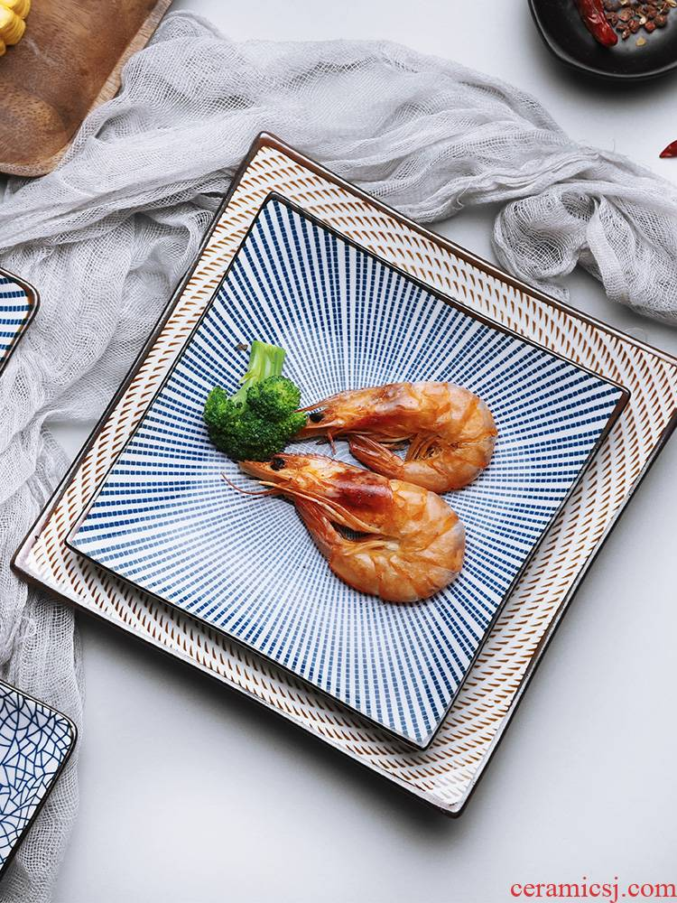Japanese ceramic dish dish dish dish the Nordic idea girl heart plate web celebrity ins wind household tableware suit
