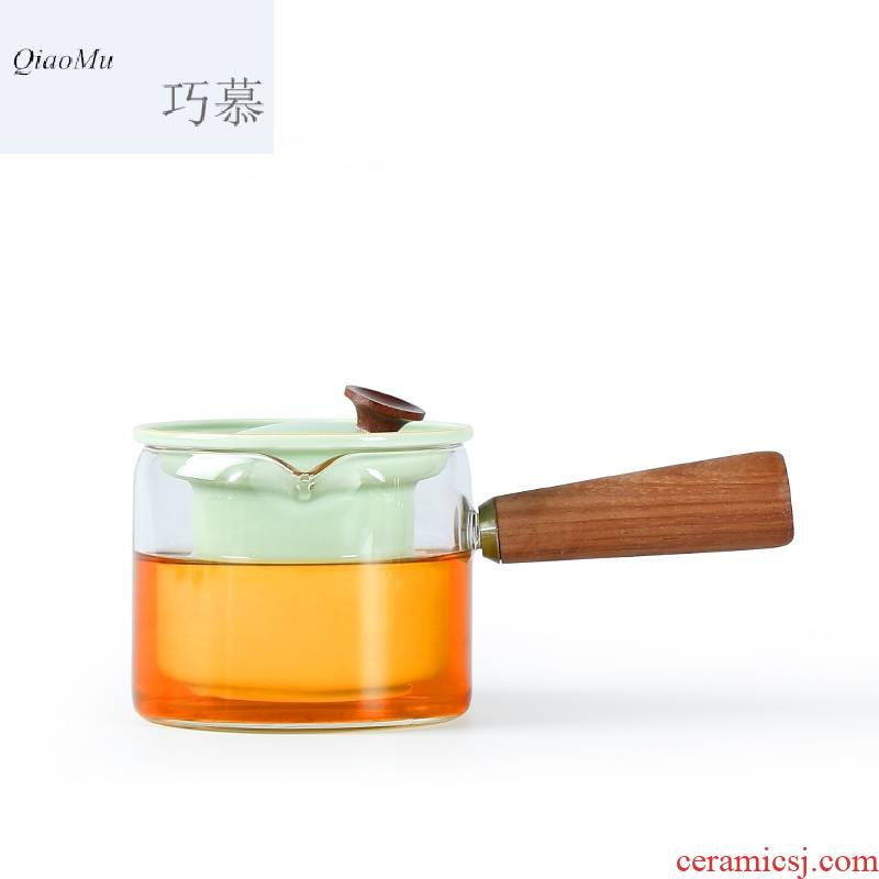 For household contracted electricity TaoLu refractory glass boiled tea set transparent mercifully tea steam pot