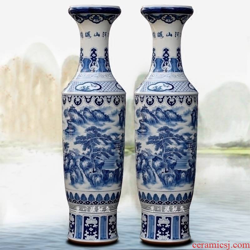 Jingdezhen ceramics hand - made archaize splendid opening gifts large pieces of large vase household living room furnishing articles