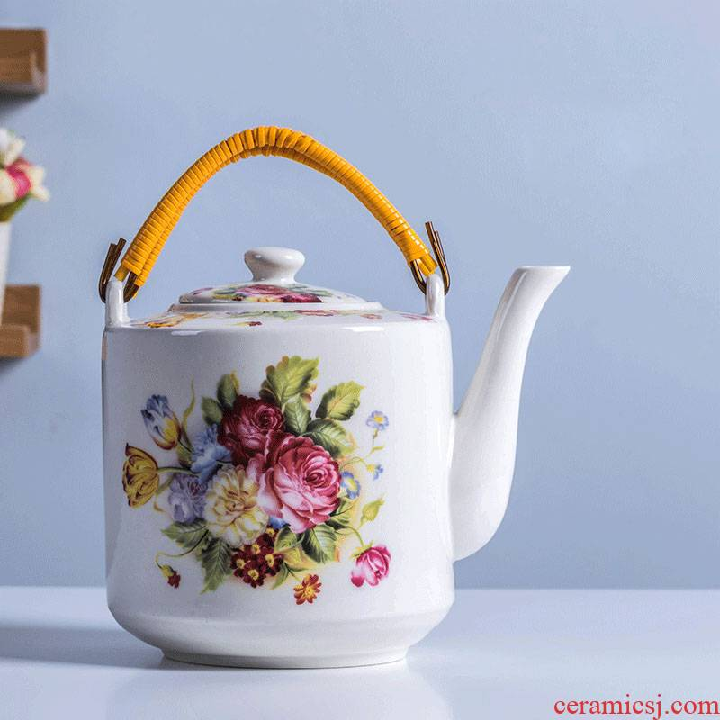 Cool blue and white porcelain kettle high - temperature ceramic teapot large - sized cold pot teapot porcelain household large capacity