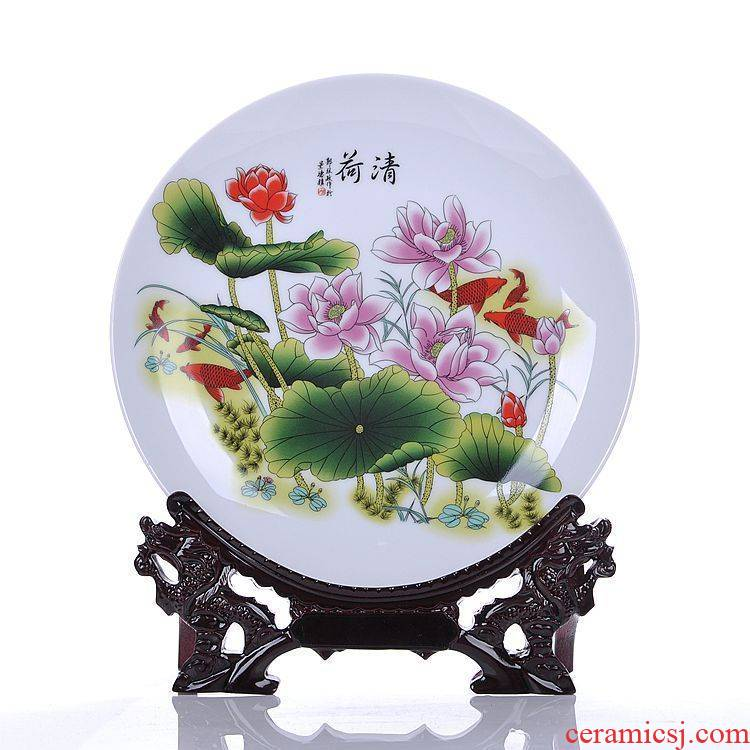 Scene, jingdezhen modern decorative arts and crafts of creative home sitting room decoration ceramic plate is placed