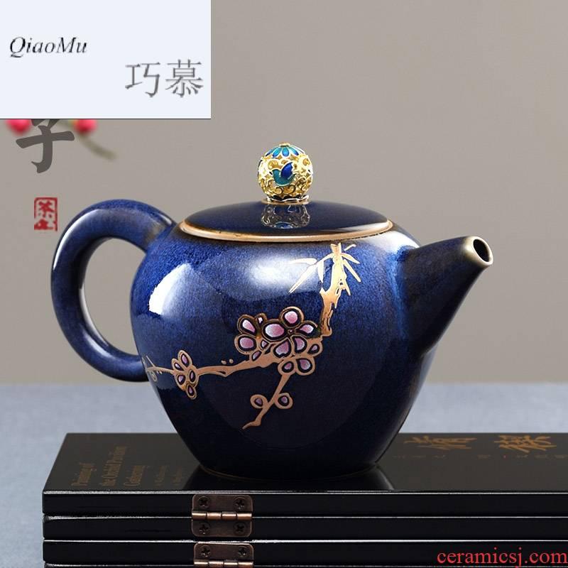 Qiao mu Taiwan FengZi little teapot ceramic filter single pot home tea kung fu tea tea accessories teapot