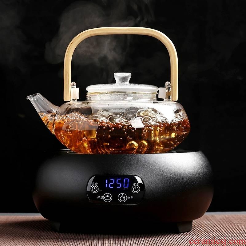 For electricity TaoLu cook boiled tea, black tea scented tea pu - erh tea ware glass teapot tea steamer household electric heating furnace