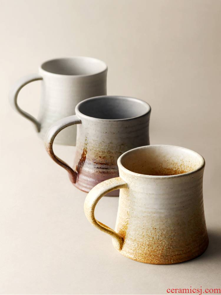 Japanese ceramic keller retro coffee cup nine soil contracted household lovers cup for cup variable swirl marks art
