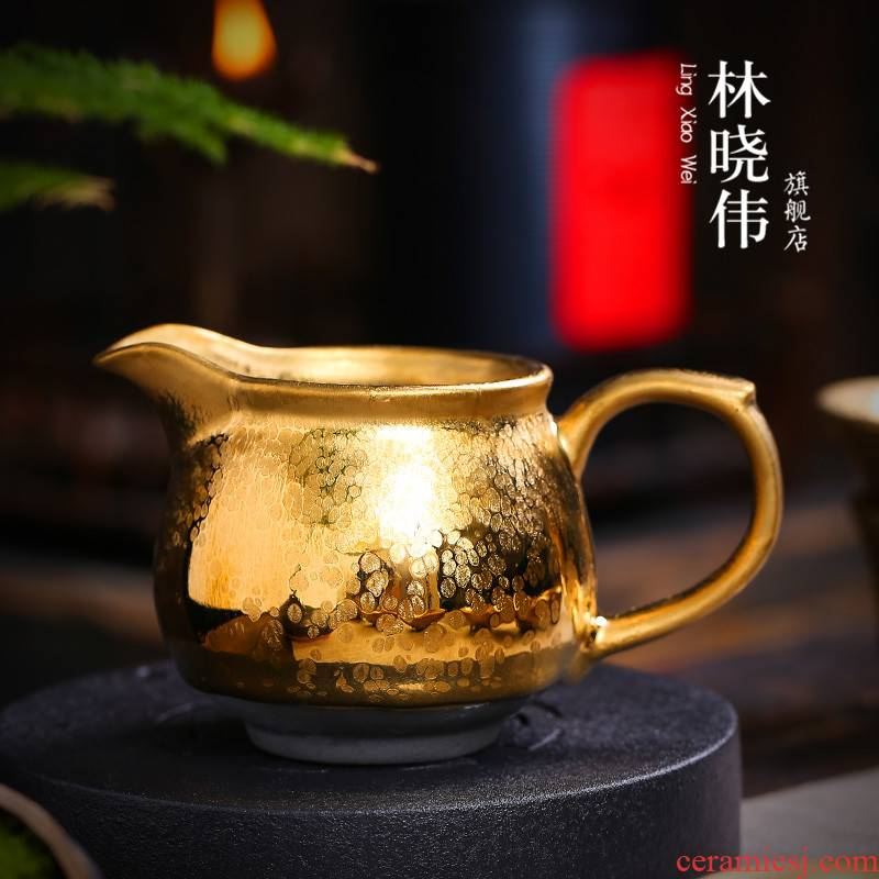 Tire building light and gold) suits for large points tea exchanger with the ceramics fair keller and a cup of tea sea kung fu tea accessories